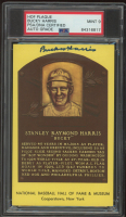 Bucky Harris Signed Hall of Fame Plaque Postcard (PSA Encapsulated) (See Description) at PristineAuction.com