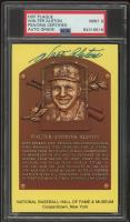 Walter Alston Signed Hall of Fame Plaque Postcard (PSA Encapsulated) (See Description) at PristineAuction.com