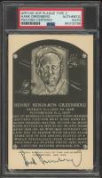 Hank Greenberg Signed Hall of Fame Plaque Postcard (PSA Encapsulated) at PristineAuction.com