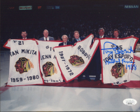 "Tony Esposito Signed Blackhawks 8x10 Photo Inscribed ""Hall of Fame 1988"" (JSA COA) at PristineAuction.com"