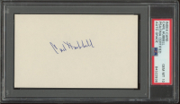Carl Hubbell Signed 3x5 Index Card Inscribed (PSA Encapsulated) at PristineAuction.com