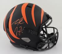Tee Higgins & Joe Burrow Signed Bengals Full-Size Eclipse Alternate Speed Helmet (JSA COA & Fanatics Hologram) (See Description) at PristineAuction.com