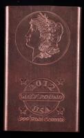 2012 Half-Pound .999 Fine Copper Bullion Bar at PristineAuction.com