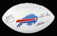 Andre Reed, Thurman Thomas & Jim Kelly Signed Bills Logo Football (JSA COA) at PristineAuction.com