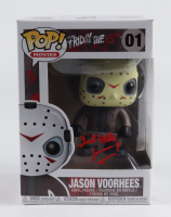 """Ted White Signed """"Friday the 13th"""" #01 Jason Voorhees Funko Pop! Vinyl Figure Inscribed """"Jason 4"""" (Beckett COA) at PristineAuction.com"""