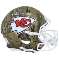 Patrick Mahomes Signed Chiefs Full-Size Camo Alternate Speed Helmet (Fanatics Hologram) at PristineAuction.com