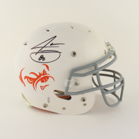 Jarvis Landry Signed Full-Size Authentic On-Field Matte White Helmet (Beckett COA) at PristineAuction.com