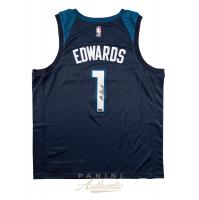 Anthony Edwards Signed Timberwolves Jersey (Panini COA) at PristineAuction.com