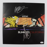 "Mark Hoppus & Matt Skiba Signed Blink-182 ""California"" Vinyl Record Album (JSA COA) (See Description) at PristineAuction.com"