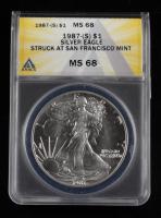 1987-S Walking Liberty Silver Half Dollar (ANACS MS68) at PristineAuction.com
