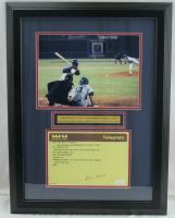 Hank Aaron Signed 16x20 Custom Framed Original 715th HR Congratulatory Telegram Display (JSA COA) at PristineAuction.com