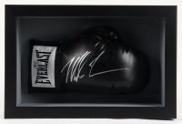 Mike Tyson Signed 11x16x6 Custom Framed Boxing Glove Shadowbox Display (Fiterman Sports Hologram) at PristineAuction.com