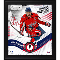 Alexander Ovechkin LE Capitals 15x17 Custom Framed Photo Display with Game-Used Puck Piece (Fanatics Hologram) at PristineAuction.com