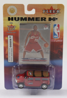 2004-05 LeBron James Cavaliers Fleer Collectibles Hummer H2 Action Figure With Fleer Basketball Card at PristineAuction.com