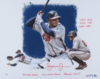 Andruw Jones Signed Braves 16x20 Photo with Multiple Inscriptions (PSA COA) (See Description) at PristineAuction.com
