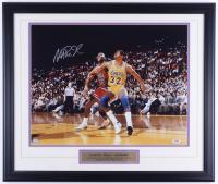 Magic Johnson Signed Lakers 22.5x26.5 Custom Framed Photo (SOP COA & PSA COA) (See Description) at PristineAuction.com