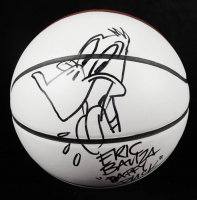 """Eric Bauza Signed Basketball Inscribed """"Daffy Duck"""" with Hand-Drawn Sketch (PSA COA) at PristineAuction.com"""