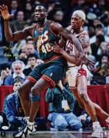 """Shawn Kemp Signed SuperSonics 16x20 Photo Inscribed """"Reign Man"""" (JSA COA) at PristineAuction.com"""