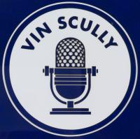 Vin Scully Signed 34.5x42.5 Custom Framed Jersey Display (PSA Hologram) at PristineAuction.com