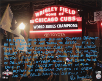 Pat Hughes Signed Cubs 16x20 Photo with Extensive Inscription (Beckett COA) at PristineAuction.com