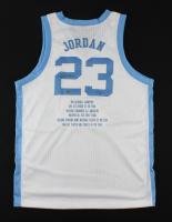 Michael Jordan Signed LE North Carolina Tar Heels Career Stat Jersey (JSA ALOA & UDA Hologram) (See Description) at PristineAuction.com
