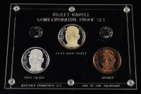Mickey Mantle LE Commemorative Proof Set Medallions with (2) Troy Ounce .999 Silver Bullion Rounds and (1) Bronze (See Description) at PristineAuction.com