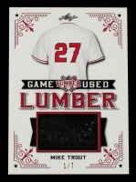 Mike Trout 2021 Leaf Lumber Game Used Lumber Red #GUL70 #1/7 at PristineAuction.com