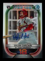 Dylan Carlson 2021 Bowman Chrome Scouts Top 100 Autographs Refractors #BTP18 #03/50 at PristineAuction.com