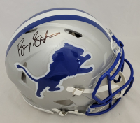 Barry Sanders Signed Lions Full-Size Authentic On-Field Throwback Speed Helmet (Schwartz COA) at PristineAuction.com