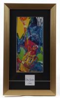 Kareem Abdul-Jabbar Signed 11x19 Cut Display with LeRoy Neiman LA Lakers Art Print (PSA COA) at PristineAuction.com