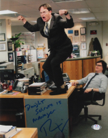 """Rainn Wilson Signed """"The Office"""" 11x14 Photo Inscribed """"Dwight Schrute is Manager"""" (PSA COA) (See Description) at PristineAuction.com"""