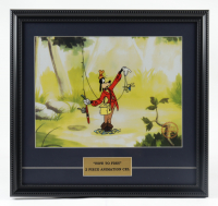 """2 Piece Framed 17x18 """"Goofy"""" Animation Cel With Disney Seal at PristineAuction.com"""
