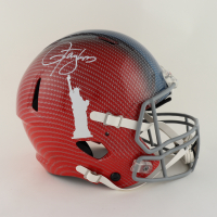 Lawrence Taylor Signed Giants Full-Size Authentic On-Field Hydro-Dipped Speed Helmet (JSA COA) at PristineAuction.com