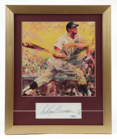 """LeRoy Neiman Signed 15x18 Cut Display with Neiman """"Mickey Mantle Commerce Comet"""" Print (PSA COA) at PristineAuction.com"""