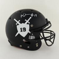 Keyshawn Johnson Signed Full-Size Authentic On-Field Matte Black Helmet (Beckett COA) (See Description) at PristineAuction.com