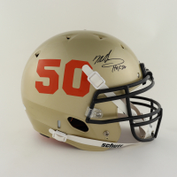 """Mike Singletary Signed Full-Size Authentic On-Field Helmet Inscribed """"HOF 98"""" (Beckett Hologram) (See Description) at PristineAuction.com"""