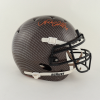Nick Chubb Signed Full-Size Authentic On-Field Hydro-Dipped Helmet (Beckett Hologram) at PristineAuction.com