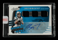 Christian McCaffrey 2020 Absolute Tools of the Trade Triple Material Autographs #19 #19/25 EXCH at PristineAuction.com
