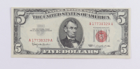1963 $5 Five Dollar U.S. National Currency Red Seal Bank Note at PristineAuction.com