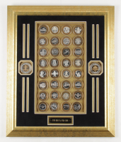 """""""Silver Coins of Las Vegas Casinos"""" 19x23 Custom Framed Commemorative Silver Coin Display with (34) Coins (See Description) at PristineAuction.com"""