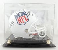 Peyton Manning, Eli Manning & Archie Manning Signed NFL Shield Logo Full-Size Helmet with Display Case (Steiner Hologram) at PristineAuction.com
