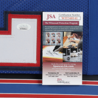 O. J. Simpson Signed 34x42 Custom Framed Jersey Display (JSA COA) at PristineAuction.com
