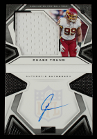 Chase Young 2020 Panini Playbook #215 Jersey Autograph EXCH #129/249 at PristineAuction.com