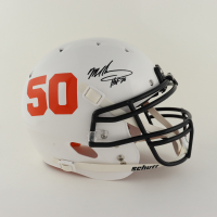 """Mike Singletary Signed Full-Size Authentic On-Field Helmet Inscribed """"HOF 98"""" (Beckett COA) (See Description) at PristineAuction.com"""