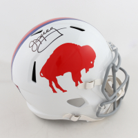 Jim Kelly Signed Bills Full-Size Throwback Speed Helmet (Beckett COA) at PristineAuction.com
