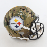 Chase Claypool Signed Steelers Full-Size Camo Alternate Speed Helmet (Beckett COA) (See Description) at PristineAuction.com