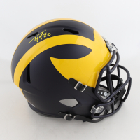 Ty Law Signed Michigan Wolverines Full-Size Matte Black Speed Helmet (Beckett Hologram) at PristineAuction.com