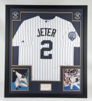 Derek Jeter Signed 34x39 Custom Framed Cut Display (PSA Hologram) at PristineAuction.com