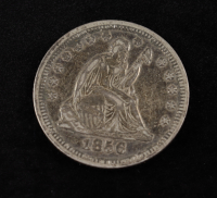 1857 Seated Liberty Quarter at PristineAuction.com