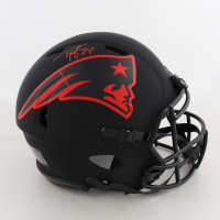 Ty Law Signed Patriots Full-Size Eclipse Alternate Speed Authentic On-Field Helmet (Beckett Hologram) (See Description) at PristineAuction.com